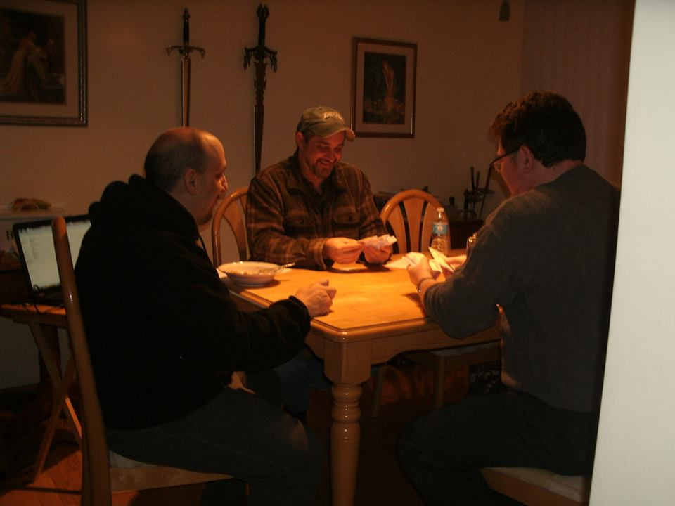 The first play -test at Steve R.'s house back in Dec. of 2013