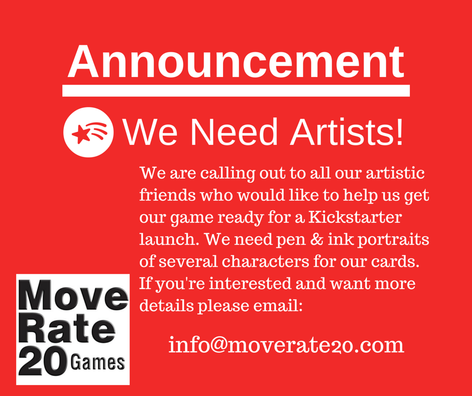 We Need Artists!
