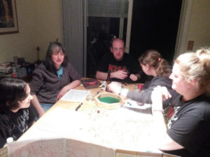 Family Dungeons & Dragons game night