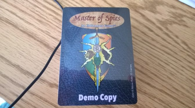 Master of Spies Card Game Progresses